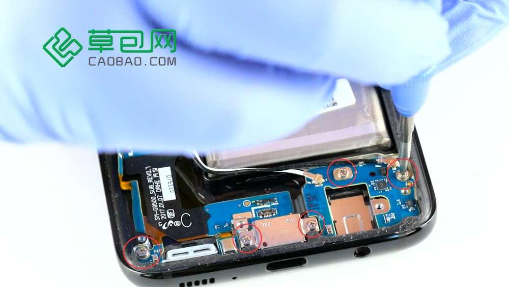 三星S8拆机更换尾插排线(充电接口) 图文教程